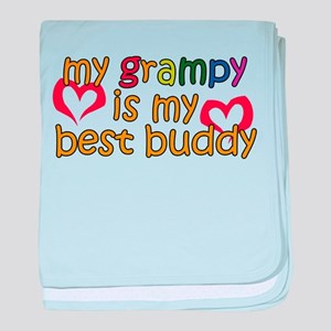 My Grampy is My Best Buddy baby blanket
